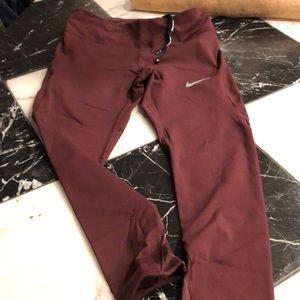 Nike burgandy leggings